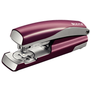 Leitz NeXXt 5562, 30 sheets, Red, Silver, 100x P3 24/6, 140x P3 26/6, Metal, Plastic, 80 g/m², Top