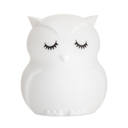 Pauleen Good Night Owl night light 2.5W USB white/silicone BPA-free, LED, Freestanding, Battery
