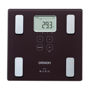 Omron BF214, Electronic personal scale, Square, Black, Tap, 4 user(s), 330 mm