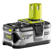 Ryobi RB18L40, Battery, Lithium, 4 Ah, 18 V, Grey