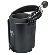 RAM Mounts Level Cup 16oz Drink Holder with Ball, Clip, Black, Blue, Composite, 208.6 g