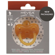 HEVEA 4002, Pacifier cloth, Orthodontic, Rubber, Boy/Girl, Bisphenol A (BPA) free, 1 pc(s)