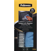 Fellowes Tablet and E-Reader Cleaning Kit, Equipment cleansing dry cloths & liquid, Tablet PC, 120 ml, Gel, Microfibre, Multicolour, 65 mm