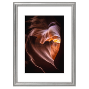 Hama Phoenix, Glass, Wood, Silver, Single picture frame, Table, Wall, 9 x 13 cm, Rectangular