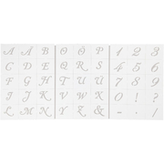 Creativ Company 26965, Letter/number stencil, Adult, White, Boy/Girl, A5, 150 mm