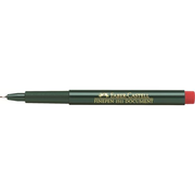 Faber-Castell 151121, Red, Black, Round, Water-based ink, Metal, 0.4 mm