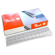 Peach 510498, Binding comb, Silver, 40 sheets, A4, 3:1, 100 pc(s)