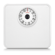 Soehnle Tempo, Mechanical personal scale, 130 kg, 1 kg, kg, Rectangle, White