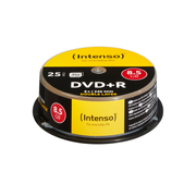 Intenso DVD+R 8.5GB 8x Double Layer 25er Cakebox, DVD+R DL, 120 mm, cakebox, 25 pc(s), 8.5 GB