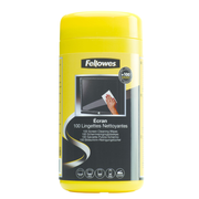 Fellowes 100 Screen Cleaning, Equipment cleansing wet cloths, LCD/TFT/Plasma, Multicolour, 82 mm, 82 mm, 170 mm