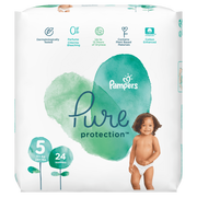 Pampers Pure Protection 81685106, Boy/Girl, Tape diaper, 11 kg, Multicolour, Cotton, 12 h