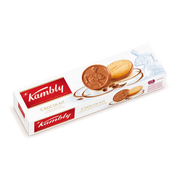Kambly Chocolait, Biscuit, Chocolate, Eggs, Gluten, Milk, Nuts, Soybeans, Sesame seeds, Round, 100 g, Paper