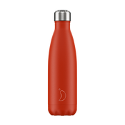 Chilly's Neon Edition Red, 500 ml, Daily usage, Red, Stainless steel, 24 h, 12 h