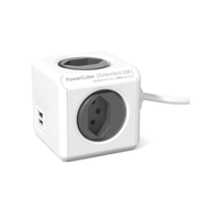 Allocacoc PowerCube Extended USB, 1.5 m, 4 AC outlet(s), Indoor, Grey, CE / KEMA, 250 V