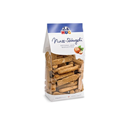 HUG Nut stick cookies, Cookie, Eggs, Milk, Nuts, Rectangle, Wheat flour, hazelnuts 26 %, sugar, butter 5 %, glucose syrup, barley malt extract, egg powder,..., 485 kcal, 2030 kJ
