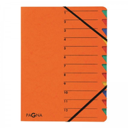 Pagna 24131-12, A4, Cardboard, Orange, Elastic band, 240 mm, 5 mm