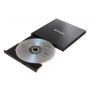 Verbatim 43889, Black, Tray, Desktop/Notebook, Blu-Ray RW, USB 3.1 Gen 1, BD,BD-R,BD-R DL,CD,DVD