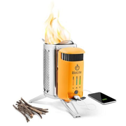 BioLite CampStove 2, Solid fuel stove, 1 zone(s), Smokeless, Foldable, 935 g