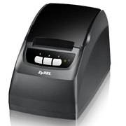 Zyxel SP350E, POS printer, 58 mm, Wired, 10,100 Mbit/s, Black, 176 mm