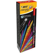 BIC fineliner Intensity, Fine, 1 colours, Red, 0.4 mm, Black,Red, 12 pc(s)