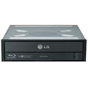 LG BH16NS55.AHLU10B, Black, Vertical/Horizontal, CE, Desktop, Blu-Ray DVD Combo, Serial ATA