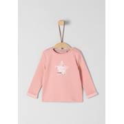 s.Oliver 56.899.31.0757, Female, Pullover, Pink, White, Baby (height), Image, Long sleeve