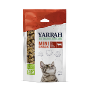 Yarrah Organic mini snack for cats, Adult, Beef, 50 g, 60.1%, 21.1%, 0.9%
