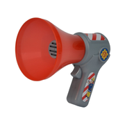 Simba Sam Fireman Megaphone, Firefighter, 3 yr(s), 9 yr(s), Grey, Red, 1.5 V, Not suitable for children under 3 years due to small parts. Choking hazard!
