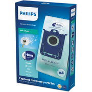 Philips s-bag Vacuum cleaner bags FC8022/04, AEG bag vacuum cleaners, Electrolux bag vacuum cleaners, FC8200- FC8219, FC8380 - FC8399, FC8400 -..., 4 pc(s)