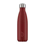 Chilly's Matte Edition B500MARED, 500 ml, Daily usage, Red, Stainless steel, 24 h, 12 h