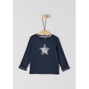 s.Oliver 56.899.31.0757, Female, Pullover, Blue, White, Baby (height), Image, Long sleeve