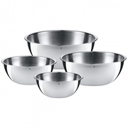 WMF 06.4570.9990, Bowl set, Round, Stainless steel, Stainless steel, 4 pc(s)