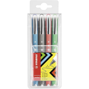 STABILO worker colorful, Black, Blue, Green, Red, 4 pc(s)