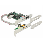 DeLOCK 89640, 7.1 channels, Internal, 24 bit, 92 dB, PCI-E