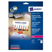 Avery C32026-10, Laser, Paper, Satin, 270 g/m², 85 mm, 54 mm