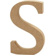 Creativ Company Letter, S, Decorative letter, Wood, Wood, 130 mm, 1 pc(s)