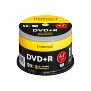 Intenso 4111155, DVD+R, 120 mm, cakebox, 50 pc(s), 4.7 GB