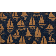 Batela 1600.0000, Decorative doormat, Outdoor, Rectangular, Blue,Gold, Image, 400 mm