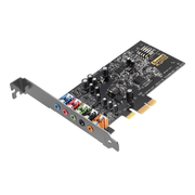 Creative Labs Sound Blaster Audigy FX, 5.1 channels, 24 bit, 106 dB, PCI-E x1