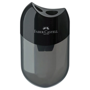 Faber-Castell 183500, Manual pencil sharpener, Black, Transparent