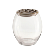 A Simple Mess 963900, Round-shaped vase, Glass, Stoneware, Sand, Transparent, Transparent, Indoor & outdoor, Louise Dorph