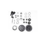 Amewi 009-105024, Rear differential set, Amewi, Car, AM10TC, Black, Stainless steel