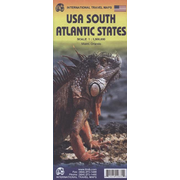 International Travel Map ITM USA South Atlantic States