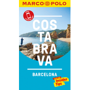 Costa Brava Marco Polo Pocket Travel Guide - with pull out map - Barcelona. Free Touring App