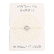 Armband - Mandala der Gelassenheit - Edelstahl - Everything I need is within me - my mandala of serenity