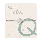 Armband mit Buchstaben - Q - A letter for you ...