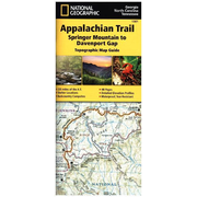 National Geographic Topographic Map Guide Appalachian Trail, Springer Mountains to Davenport Gap - Waterproof. Tear Resistant