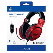 Bigben Interactive PS4OFHEADSETV3R headphones/headset Head-band 3.5 mm connector Red