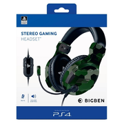 Bigben Interactive PS4OFHEADSETV3G headphones/headset Head-band 3.5 mm connector Camouflage
