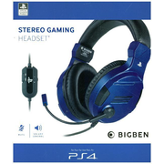 Bigben Interactive PS4OFHEADSETV3G Headset Head-band 3.5 mm connector Blue